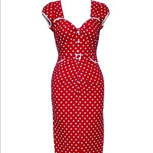 Stop Staring Red Polka Dot Dress